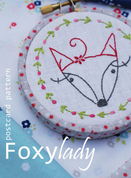 Foxy lady postcard