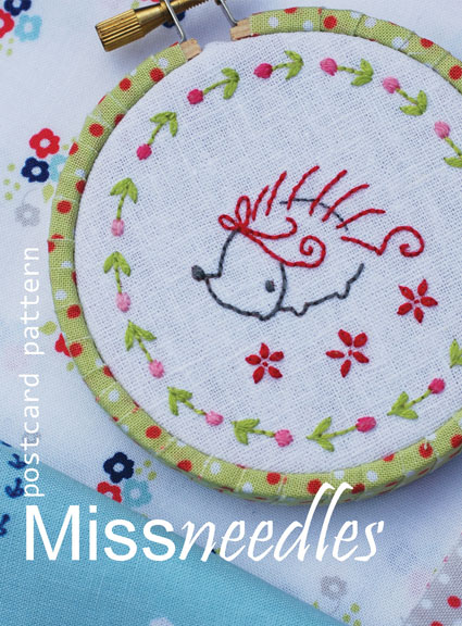 Miss needles postcard