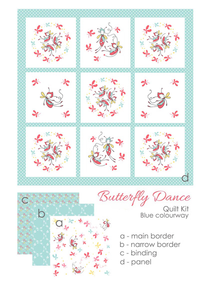 butterfly dance blue kit