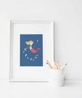 mermaid and seahorse frame