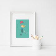 mermaid & umbrella frame
